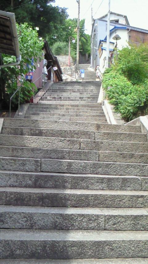 階段を下から撮影。